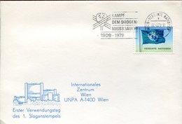 52521 Austria (uno United Nations) Special Cover And Postmark 1979 Wien, Drogen Missbrauch, Drug Abuse, Abus De Drogues - Droga