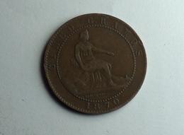 Espagne 5 Centimos 1870 - Monnaies Provinciales