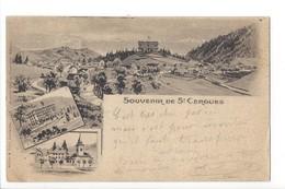 24371 - Souvenir De St-Cergues Multivues + Cachet Linéaire St-Cergues 1899 - VD Vaud