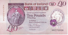 BILLETE DE IRLANDA DE 10 POUNDS DEL AÑO 2017  (BANKNOTE) - Irlanda