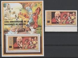 Guinée Guinea 2008 Mi. 6307 Bl. 1645 Surchargé Overprint 330e Anniversaire Antonio Vivaldi Music Musique Musik - Musique