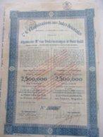 Compagnie Générale D'Exploitations Aux Indes Orientales - Capital 2 500 000 - émis En 1914 - Asie
