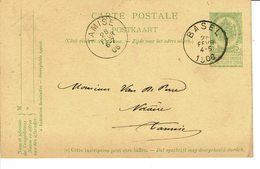BASEL SUR ENTIER POSTAL (carte Postal) 5C - 1905 Grosse Barbe
