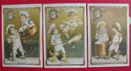 3 Images Chromo Extrait De Viande Liebig. S 260. Petits Cuisiniers Marmitons. 1890. édition Française - Liebig