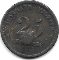 VIlvoorde Colonie Et Argent De  Prison Militaire 25 Cents 1833 VE5.3catalog Val 50 Euro Colony And Military Prison - Autres