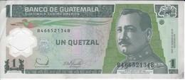 BILLETE DE GUATEMALA DE 1 QUETZAL  20 DICIEMBRE 2006 (BANK NOTE) POLIMERO - Guatemala
