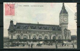 Carte Postale De PARIS (Gare De Lyon) De 1907- Y&T N°129 - Poststempel (Briefe)