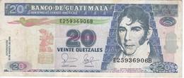 BILLETE DE GUATEMALA DE 20 QUETZALES  25 AGOSTO 2006 (BANK NOTE) - Guatemala