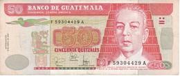 BILLETE DE GUATEMALA DE 50 QUETZALES  9 ABRIL 2001 (BANK NOTE) - Guatemala