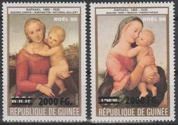 Guinée Guinea 2009 Mi. 6722/3 Surchargé Overprint Christmas Noël 90 Raphaël Weihnachten Tableau Art Kunst - Guinea (1958-...)