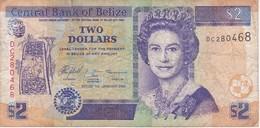 BILLETE DE BELIZE DE 2 DOLLARS  DEL AÑO 2005   (BANKNOTE) - Belice
