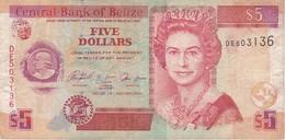 BILLETE DE BELIZE DE 5 DOLLARS  DEL AÑO 2005   (BANKNOTE) - Belize