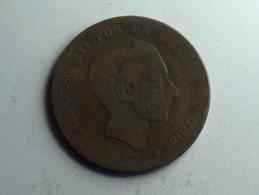 Espagne Diez Centimos 1877 OM - Monnaies Provinciales