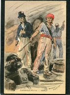 CPA - Illustration Maurice Toussaint - Canonniers Marins, 1804 - Guerre
