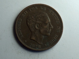 Espagne Diez Centimos 1878 OM SUP - Monnaies Provinciales