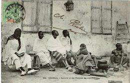 CTN60/CPA - SENEGAL CPA SAMORY ET SES FEMMES EN CAPTIVITE - Senegal (1887-1944)