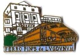 TGV - SE15 - TGV SUD EST - FERRO PIN's De LUGDUNUM - LYON - Verso :WINNER - TGV