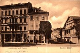 Baden-Baden Leopoldsplatz Buchhandlung Wild Theater Ngl - Baden-Baden