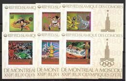 Comores Blocs Non Dentelés Imperf JO 80 ** - Ete 1980: Moscou