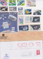Lot 24 Documents Thème SPATIAL ESPACE Space Satellite Arsène Meteosat Intelsat... ; Flamme EMA Bloc Timbre - Unclassified