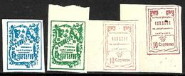 180 - COLOMBIE  - SANTANDER - 1904 - CRUDE FORGERIES, FALSES, FAKES, FAUX, FALSOS, FALSCHEN - Briefmarken