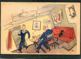 CPA - Illustration - Un Bon Maître D'Hôtel Doit Avoir Beaucoup De Qualités Et En Particulier Le Pied Marin - Oorlog