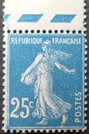 R1513/197 - 1907 - TYPE SEMEUSE CAMEE - N°140j (IIIB) NEUF** BdF - 1906-38 Säerin, Untergrund Glatt