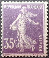 R1513/198 - 1907 - TYPE SEMEUSE CAMEE - N°142 (I) NEUF** BdF - 1906-38 Semeuse Camée