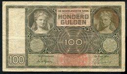 Netherlands  - 100 Gulden 1930 I 'Luitspelende Vrouw' / AM 1931  - See The 2 Scans For Condition.(Originalscan ) - [1] …-1815 : Ante Regno