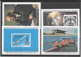 Sao Tomé & Principe Blocs Non Dentelés Imperf JO 80 ** - Summer 1980: Moscow