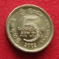 Sri Lanka 5 Rupees 2002 KM# 148.2 - Sri Lanka