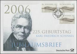2527 Karl Friedrich Schinkel 2006 - Jubiläumsbrief - [7] République Fédérale