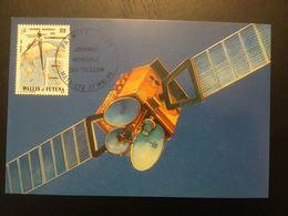 WALLIS FUTUNA - Carte Maximum - 1989 - Journée Mondiale Des Telecom - Mata Utu - Cf Scan - Covers & Documents