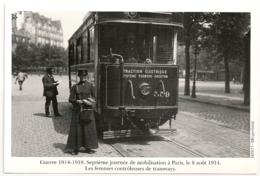 8 AOUT 1914. FEMMES CONTROLEUSES DE TRAMWAYS. GUERRE 14 18 - Personnages