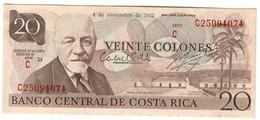 COSTA RICA20COLONES04/11/1985P238UNC-Stain.CV. - Costa Rica