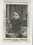 SPECTACLE - CIRQUE -CELEBRITES - Le Célèbre ERNEST CORDIER , Enfant Tronc Né En 1910 à SAINT ANDRÉ SUR CAILLY Près ROUEN - Cirque