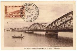 Sénégal / Saint-Louis-du-Sénégal / Journée Du Timbre 1948 / Le Pont Faidherbe - A.O.F. (1934-1959)