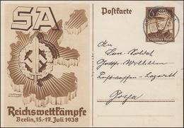 Sonderpostkarte P271 Reichswettkämpfe In Berlin 1938, GROSSENHAIN 25.9.38 - Allemagne