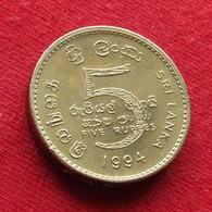 Sri Lanka 5 Rupees 1994 KM# 148.2 - Sri Lanka
