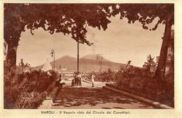 """6899 """"NAPOLI-IL VESUVIO VISTO DAL CIRCOLO DEI CANOTTIERI"""" -CARTOLINA POST. ORIG. NON SPEDITA - Napoli (Naples)"""