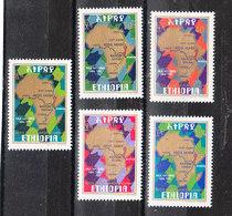 Etiopia - 1977. Carta Geografica  Africa Map. Costruzione Autostrada PanAfrica.Construction Of The PanAfrica Highway.MNH - Fabbriche E Imprese