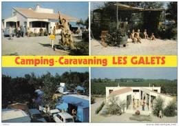 """Carte Postale 66. Argelès-sur-mer  Camping """"Les Galets""""  Route De Taxo  Trés Beau Plan - Argeles Sur Mer"""