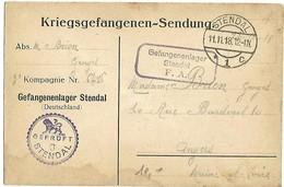 Censure / Zensur - Lettre De Prisonnier De Guerre / Krigsgefangenensendung - Stendal 11.11.1918 - Occupazione 1914 – 18
