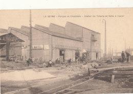 83 // LA SEYNE   Forges Et Chantiers  Atelier De Tolerie Et Salle A Tracer  / Cachet 10 E Regiment Artillerie Au Verso - La Seyne-sur-Mer