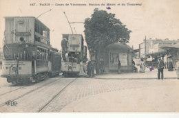 75 // PARIS  Cours De Vincennes   Station Du Métro Et Du Tramway  147 - Transport Urbain En Surface