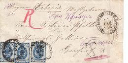 Russia Ukraine Bavaria Registered Cover BERESINSK Chernigov Gub To NEUMARKT & BERCHING 1884 (v59) - 1857-1916 Empire