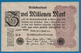 DEUTSCHES REICH 2 Millionen Mark 09.08.1923# RD  P# 104a - 1918-1933: Weimarer Republik