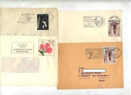 Lot 4 Lettres  Flamme  Monte Carlo 1958/60 à Voir - Marcophilie - EMA (Empreintes Machines)