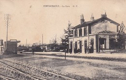 CPA  50 PONTAUBAULT La GARE - Andere Gemeenten