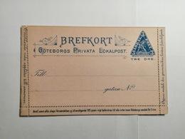 Brefkort Goteborgs Privata Lokalpost - Entiers Postaux